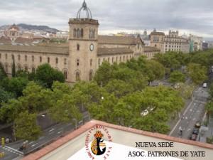 Vista Universidad de Barcelona desde Asociación Patrones de Yate